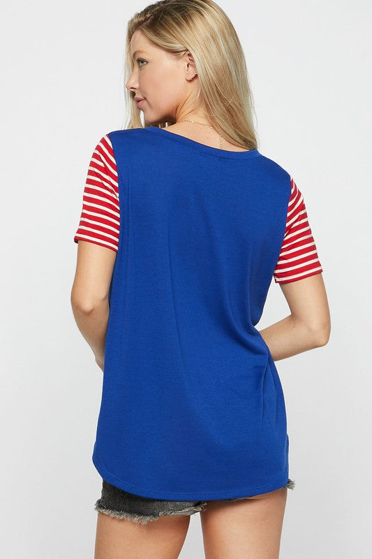 Let's Hear It For The Red, White, And Blue Top