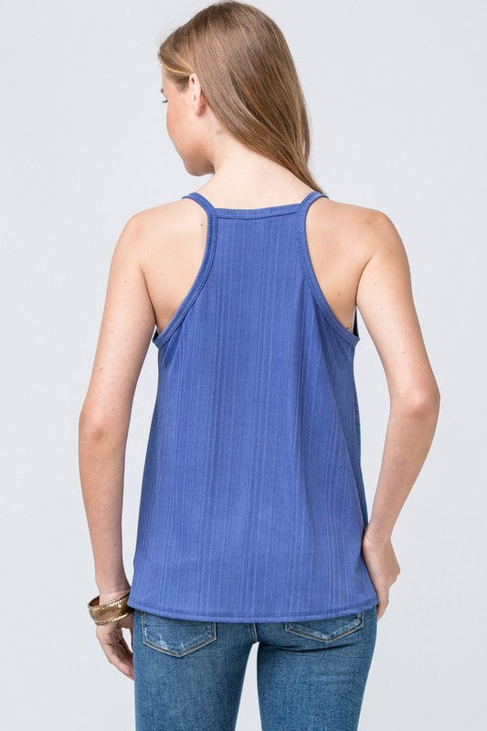 Ribbed And Rowdy Tank Top