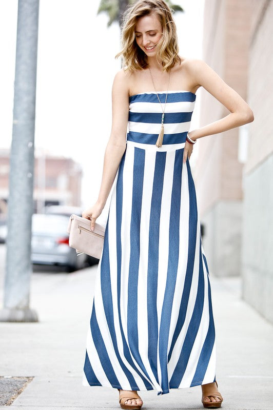 Summer Breeze Strapless Maxi Dress