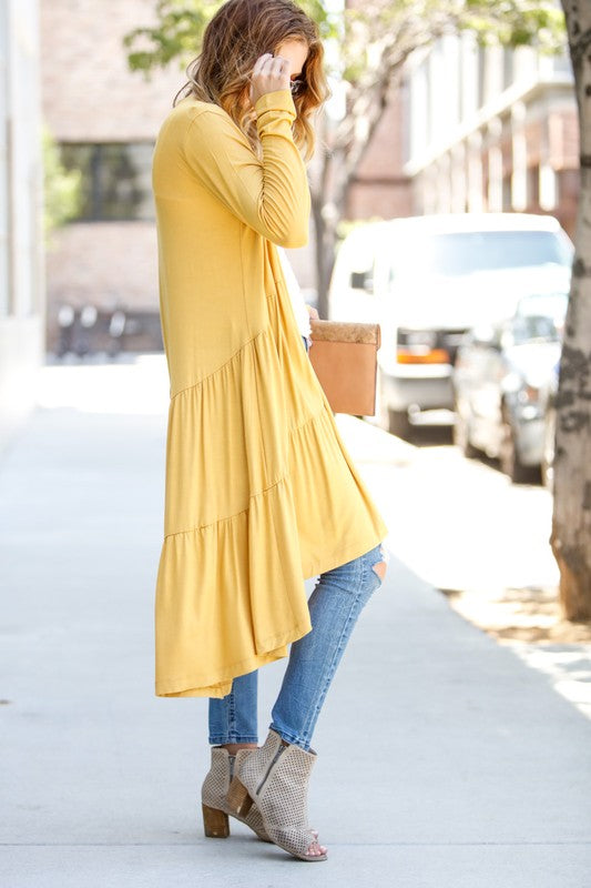 Fall Fabulous Mustard Duster