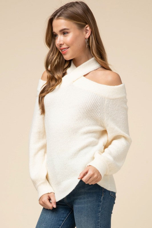 Crisscross Cream Dream Sweater