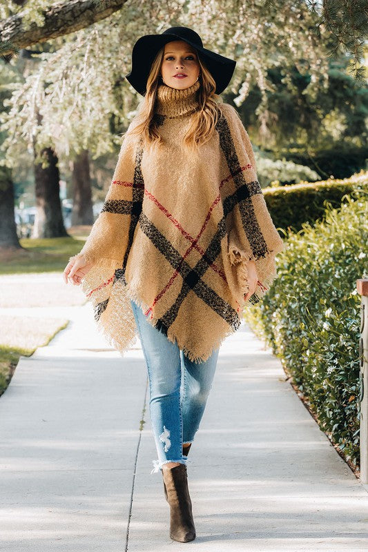 Quintessential Fall Poncho Sweater
