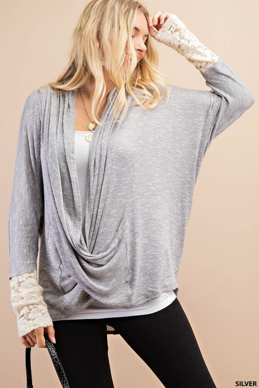 Silver and Lace Top