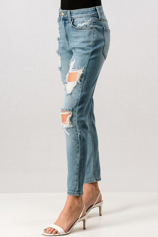 Ripped In All The Right Places Boyfriend Jeans