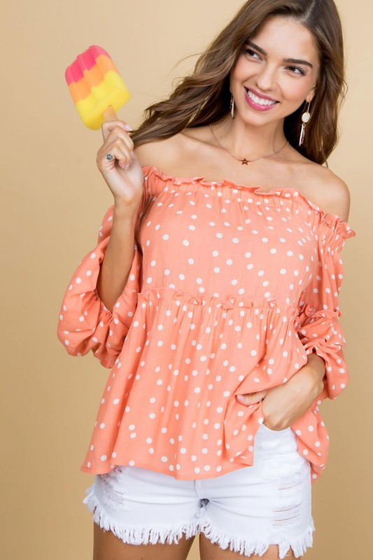 Bubbly Belle Polka Dot Top