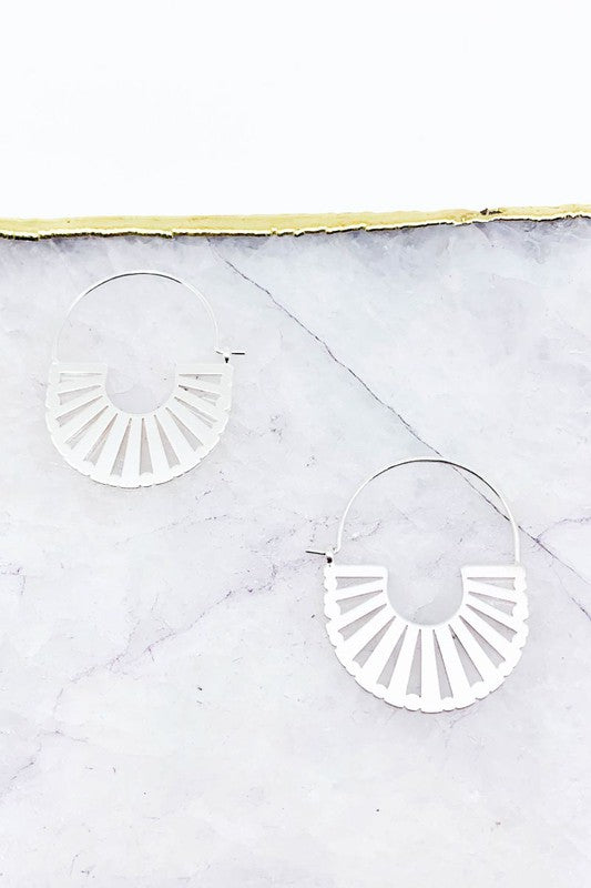 Matte Plated Cut-Out Earrings