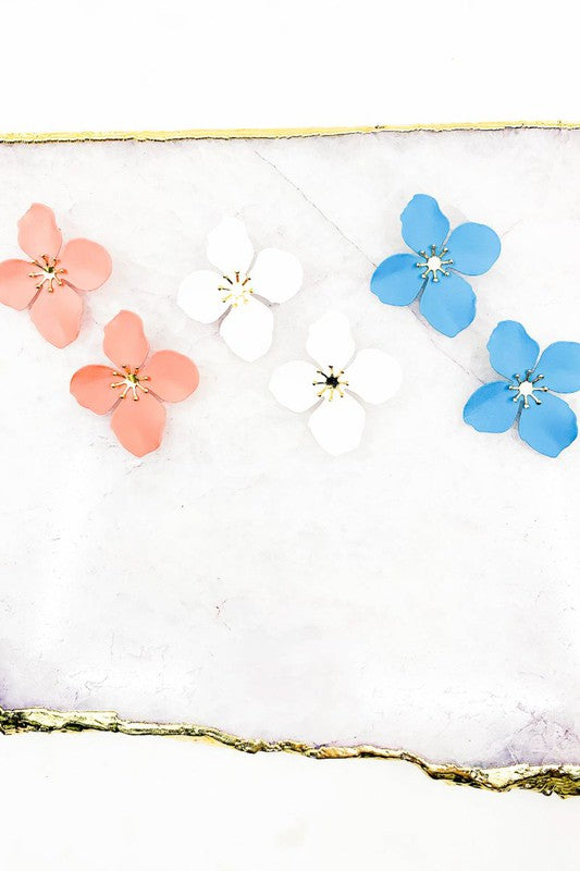 Coated Flower Earrings