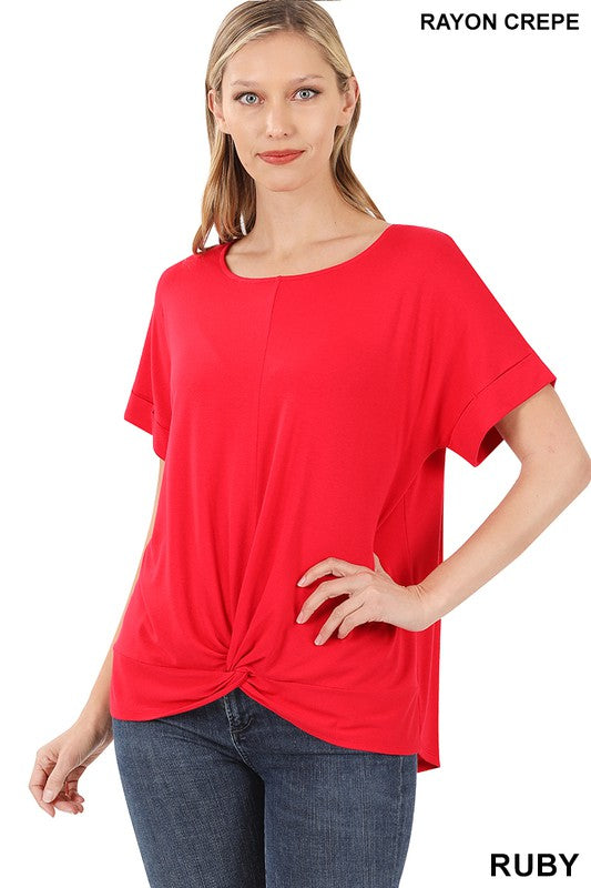 Knot At All Basic Short Sleeve Top