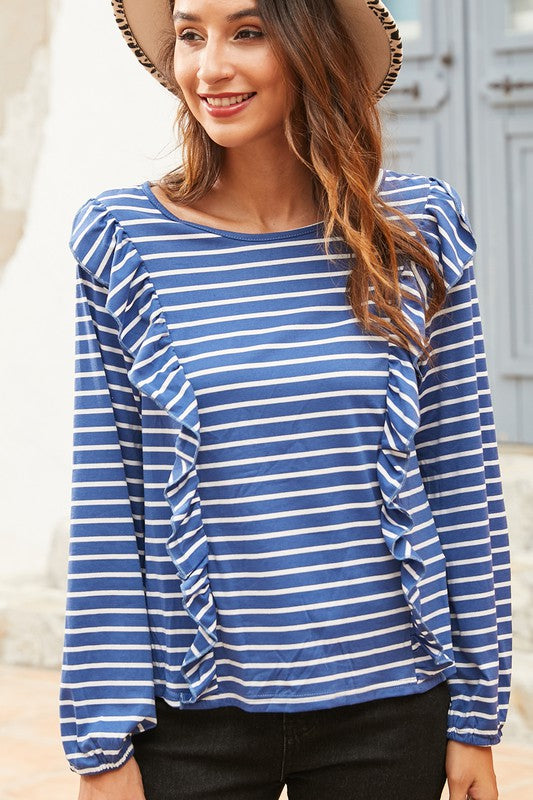 Ruffles and Stripes Top