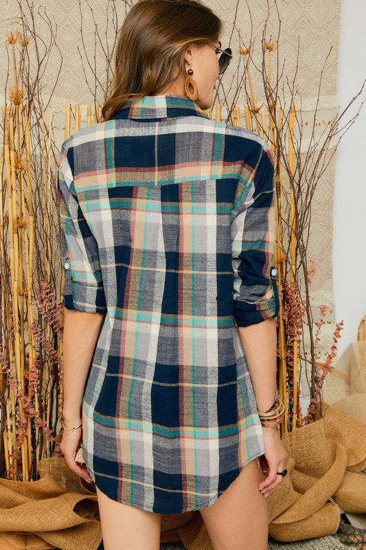 Forever Fall Flannel Top