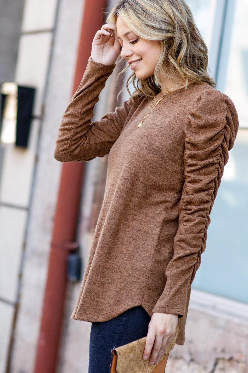 Radiant Ruched Sleeve Top