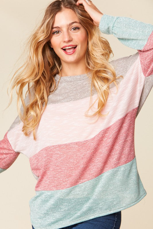 Love Is In The Air Colorblock Top