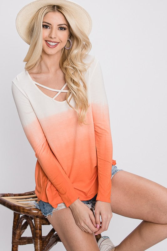 The Future Is Bright Ombre Top