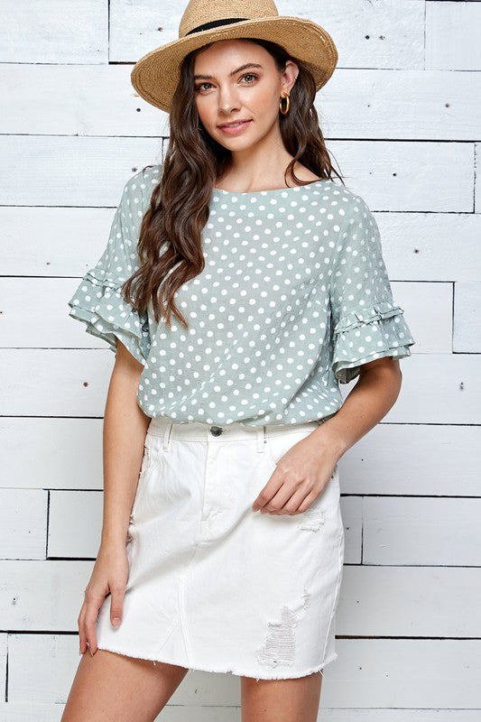 Springy Polka Dot Top