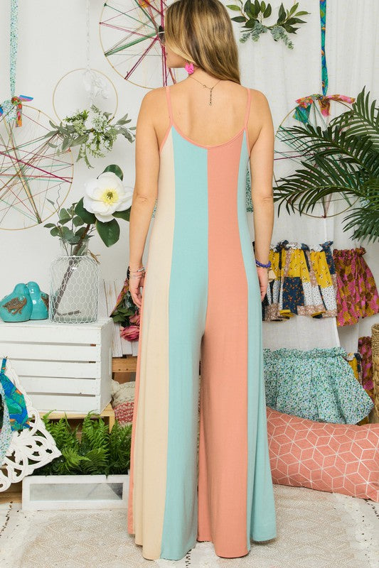Dreamy Vertical Colorblock Jumpsuit