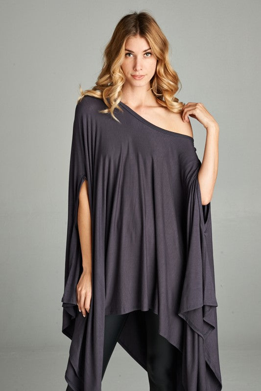 Stylin' In Steel Poncho Top