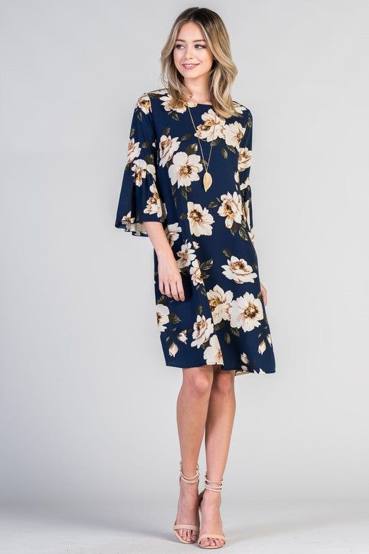 Bell Sleeve Beauty Dress