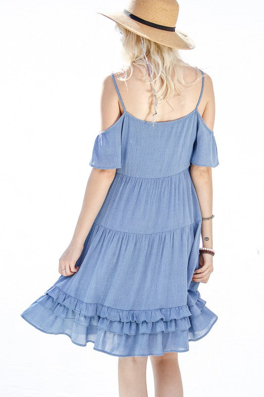 Seashore Blue Boho Dress
