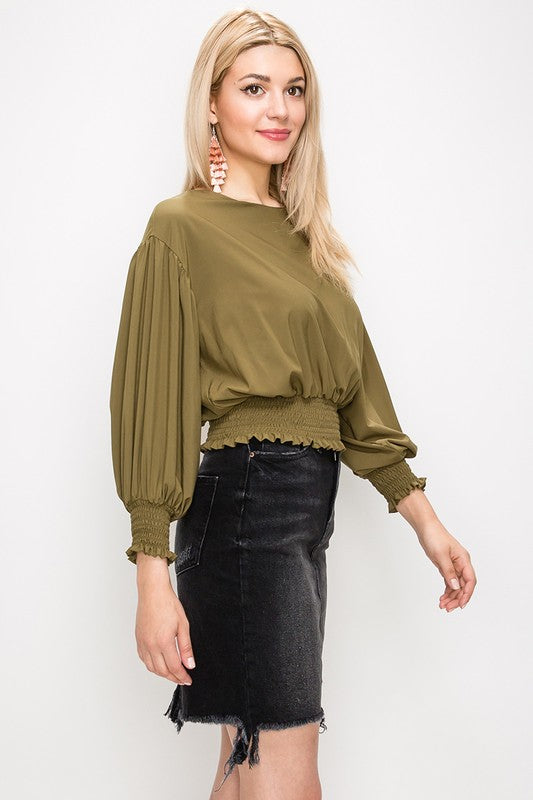 Out of this World Olive Crop Top