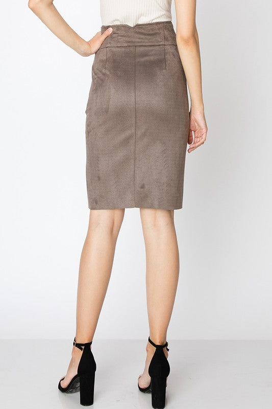 Soft Faux Suede Skirt