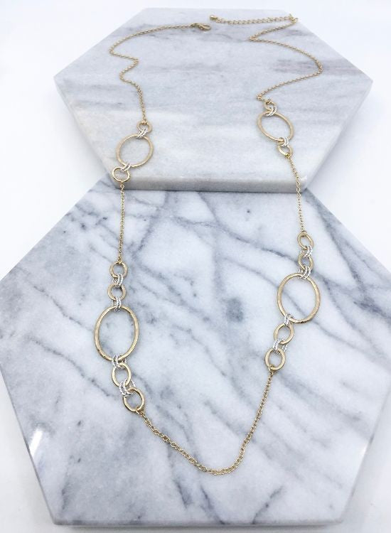 Mixed Metal Station Necklace