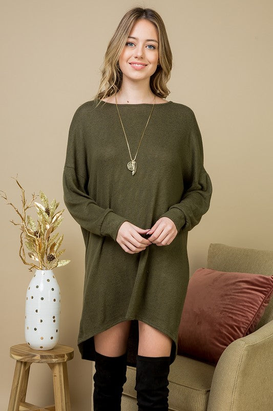 Boot Ready Olive Tunic Dress