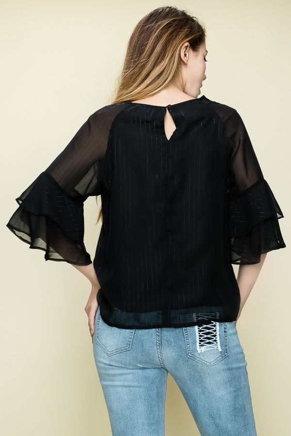 Ruffle Some Feathers Top