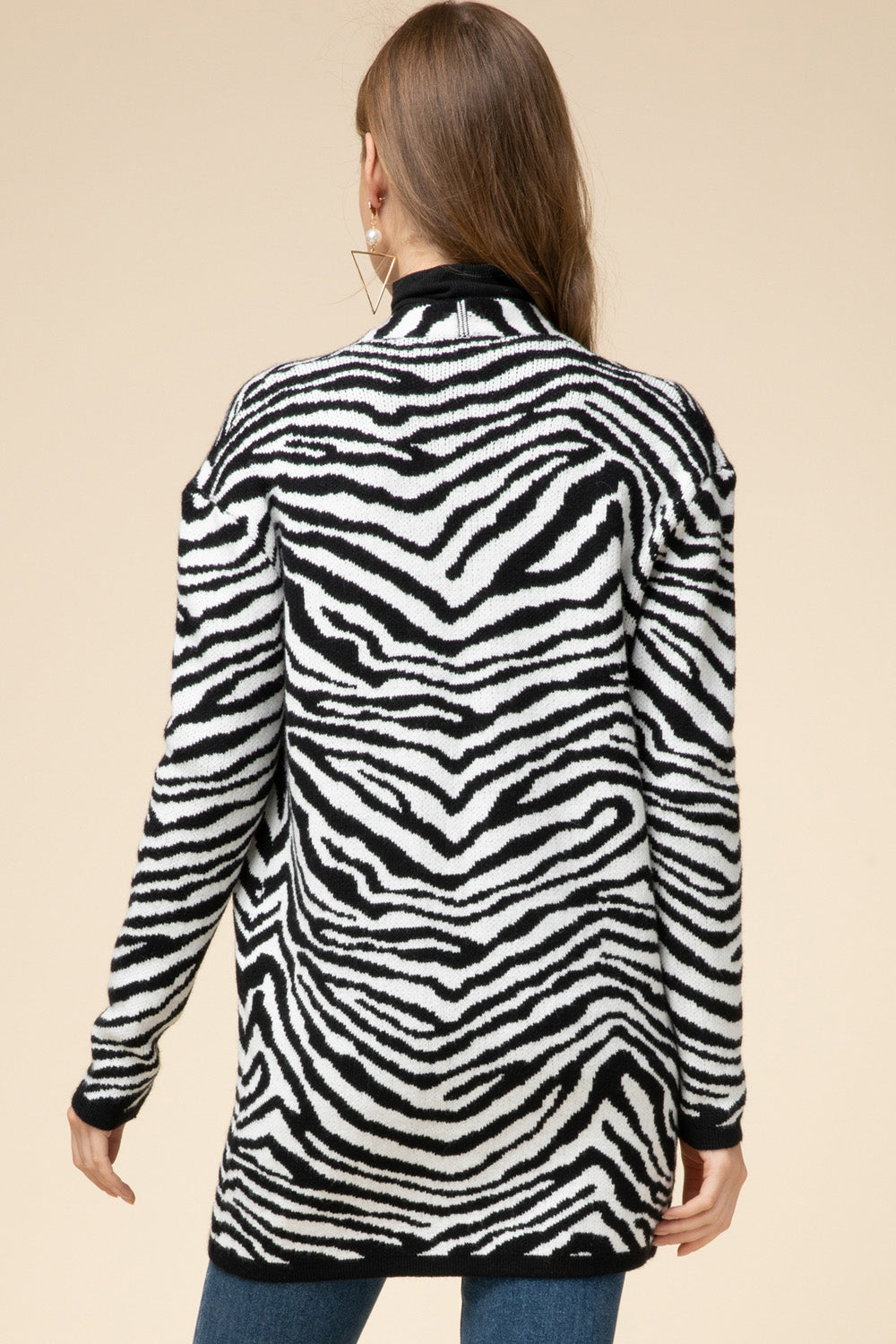 Zealous Zebra Sweater Cardigan