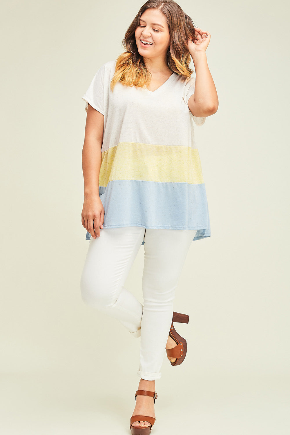 Jenny From the Color-Block Top