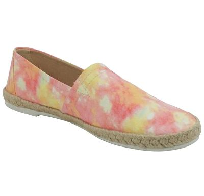 Pink and Yellow Tie Dye Espadrille Flat