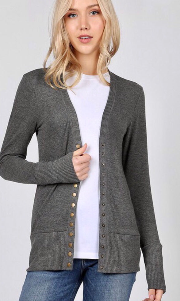 Make It Snappy Sweater Cardigan