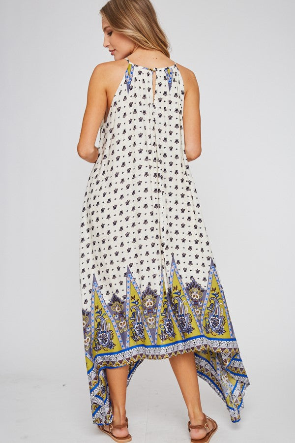 Lovely Lotus Print Dress