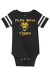 BLACK PRAIRIE GROVE ONESIE WITH TIGER LOGO