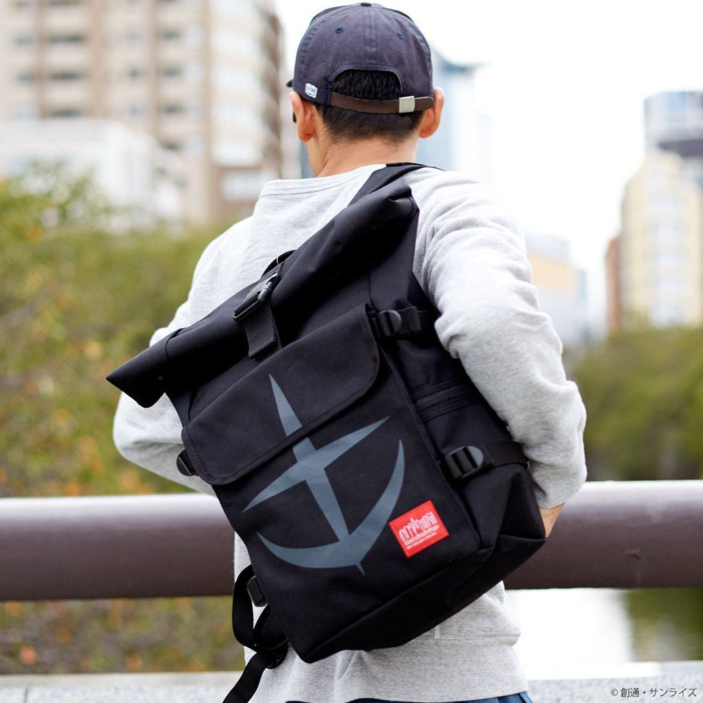 "STRICT-G x Manhattan Portage ""Mobile Suit Gundam"" 40th Anniversary Backpack Earth Federation Forces Model - Black [End of November]"