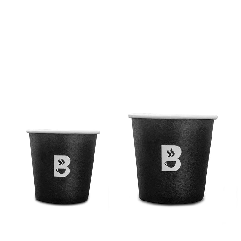 BRODYS Disposable Paper Cups, 4oz and 6oz Combo - 100 count - Brodys