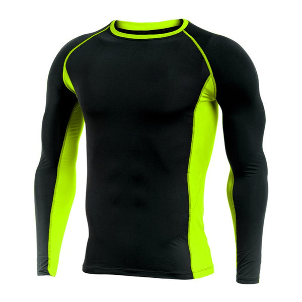 Men's Compression Quick Dry Activewear Light Weight Long Sleeve T-Shirt