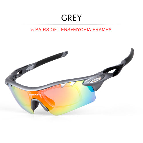 INBIKE Unisex Polarized Sunglasses Five Pairs Set