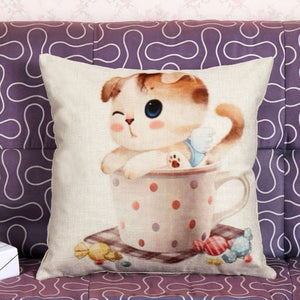 Collection housse de coussin mignon chaton chat