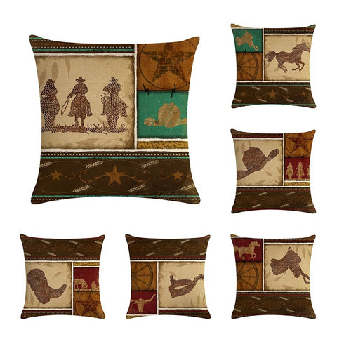 Collection housse de coussin Cheval de cow-boy