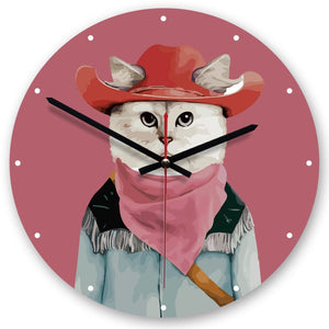 Collection Horloge murale animaux humains