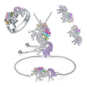 Collection bijoux Licorne bague collier bracelet