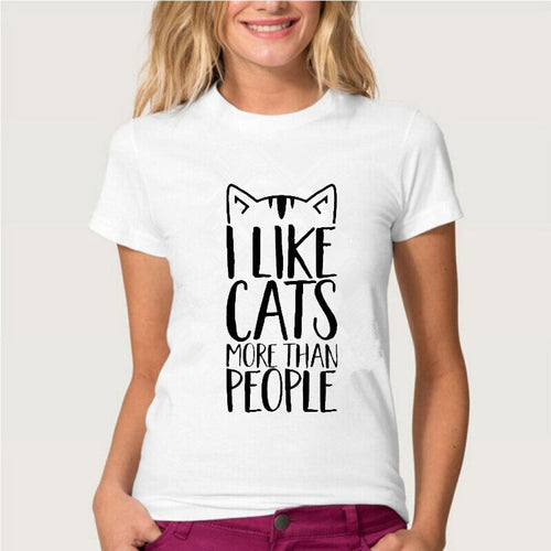 T-shirt imprimé I LOVE MY CAT DOG CHAT CHIEN