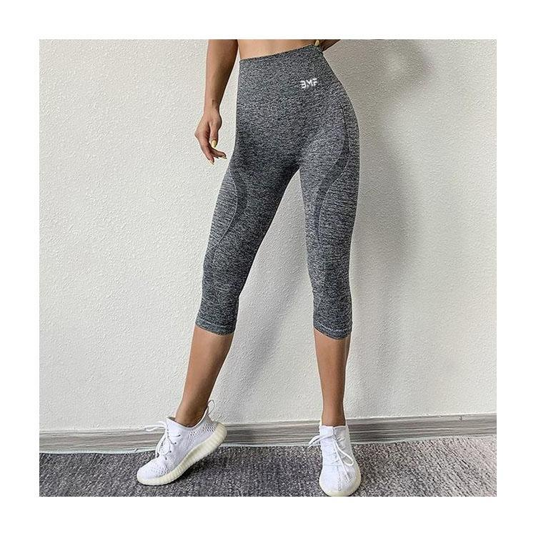 Flex Seamless 3/4 Leggings-Leggings-Be More Fitness® Ltd