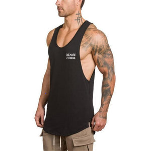 Scoop Bottom Cut Out Vest-Be More Fitness® Ltd-Be More Fitness® Ltd