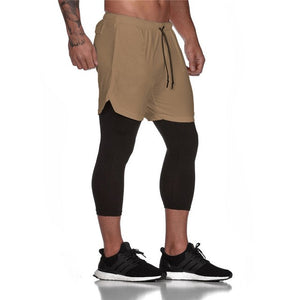 Utility Legging Shorts-Shorts-Be More Fitness® Ltd-Khaki-L-Be More Fitness® Ltd