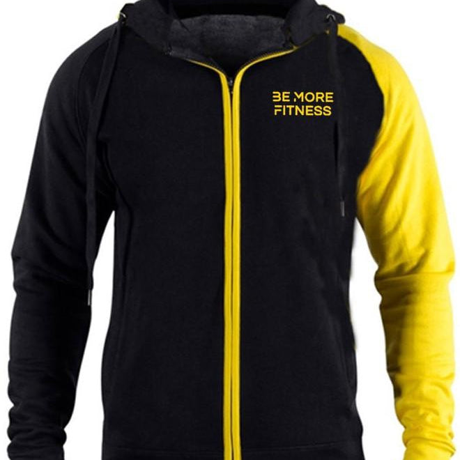 Contrast Fitted Hoodie-hoodie-Be More Fitness UK-M-Be More Fitness® Ltd