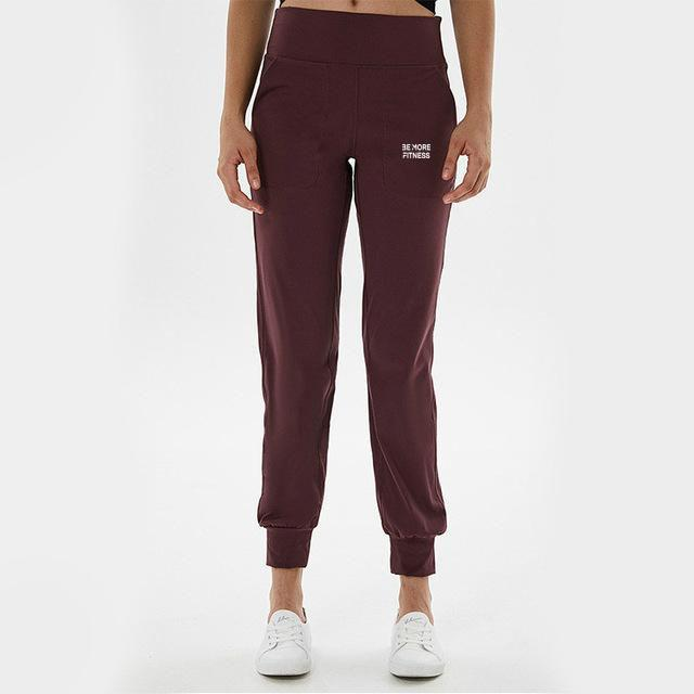 Essence High Waist Fleece Joggers-Joggers-Be More Fitness® Ltd-Be More Fitness® Ltd