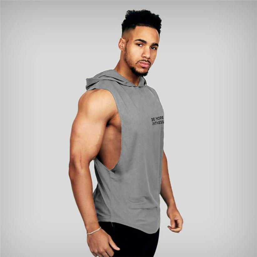 Hooded Cut Out Tank Top-Tank Top-Be More Fitness® Ltd-Be More Fitness® Ltd
