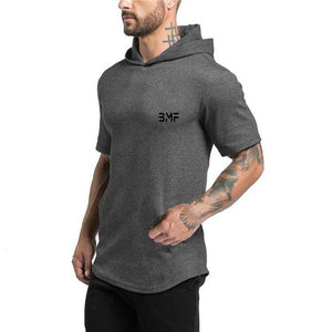 Hooded Short Sleeve Pullover-hoodie-Be More Fitness® Ltd-Be More Fitness® Ltd