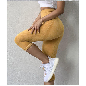 Flex Seamless 3/4 Leggings-Leggings-Be More Fitness® Ltd-Be More Fitness® Ltd